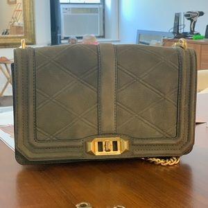 Rebecca Minkoff suede olive green purse